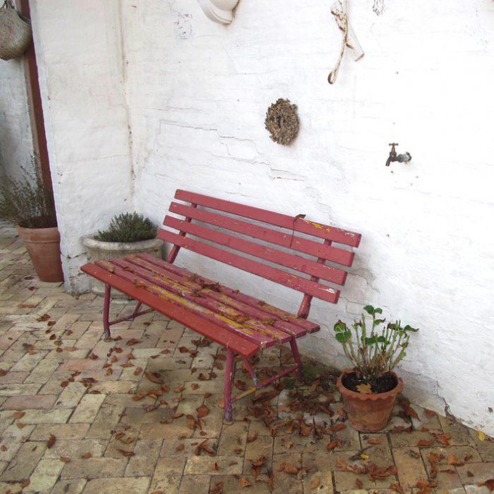 bænk sildebensgulv hyggelig cosy orangery bench
