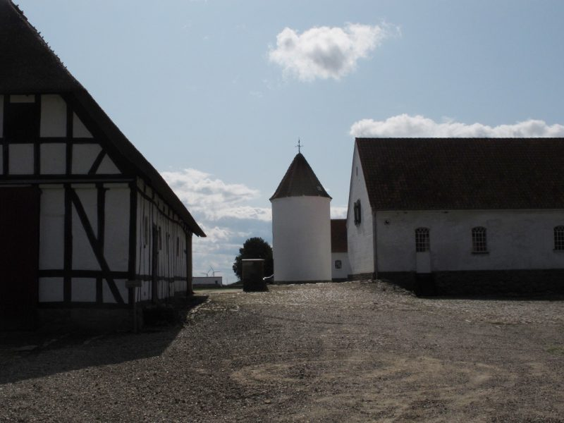 tårn, bindingsværk, gård, farm, old danish house
