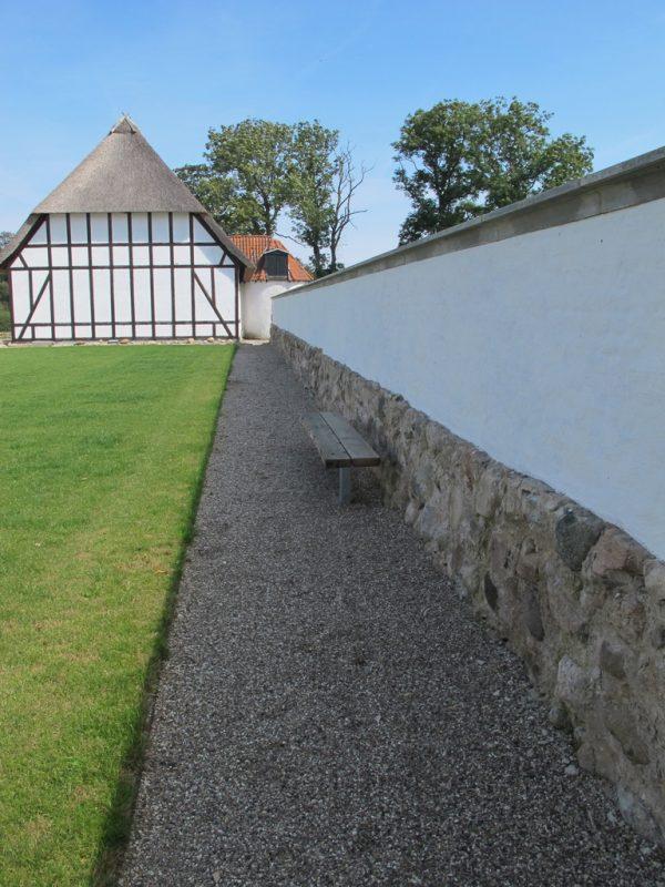 Bindingsværk, stald, maskinhus, mur, stable, wall