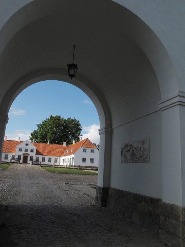 indkørsel, gårdsplads, port, portal, estate