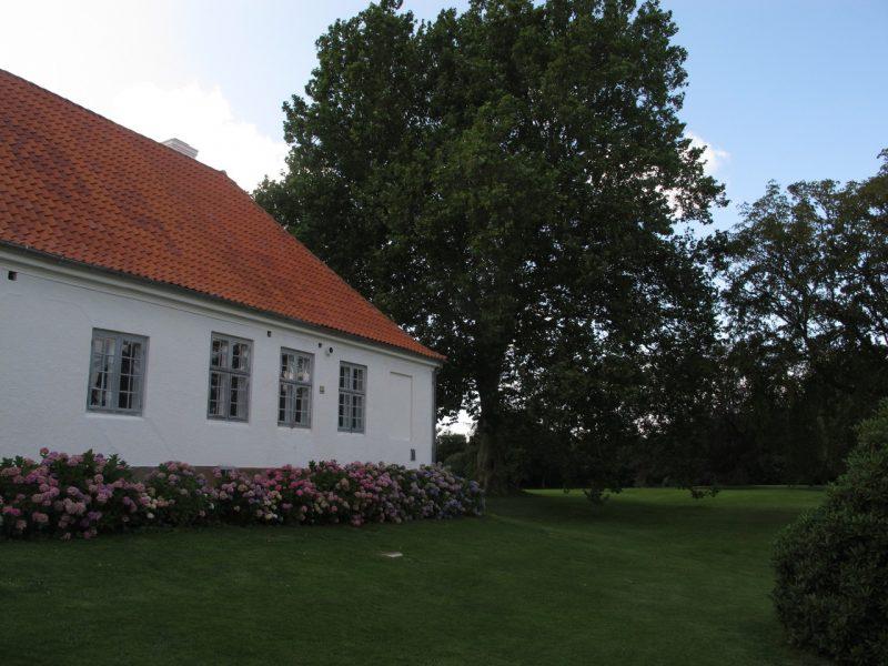 Flintholm, længe, sidebygning, hortensia, house, estate