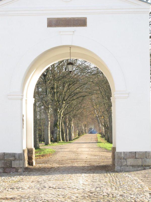 Port, allé, indkørsel, portal, entrance